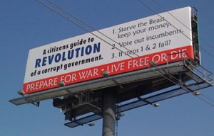 prepare for war billboard anti obama right wing wingnut insanity